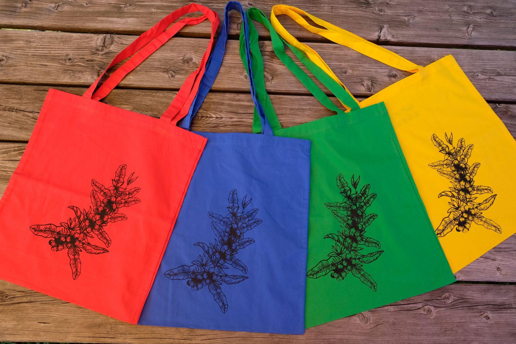 Handbedruckte Stofftasche | Kaffeepflanze
